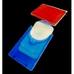 Estuche con láminas de jabón.
