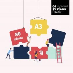 Puzzle A3, de 80 piezas.