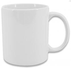 Taza blanca de cerámica de 11 oz Ξ 325 ml, personalizable.