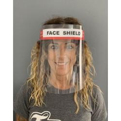 Pantalla antivaho de protección facial, con cinta elástica.