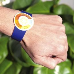 Pulsera medidor de rayos UV.