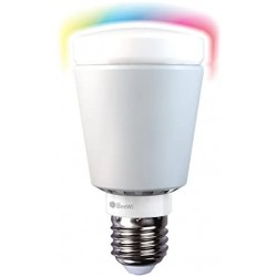 Bombilla led multicolor con control a distancia.